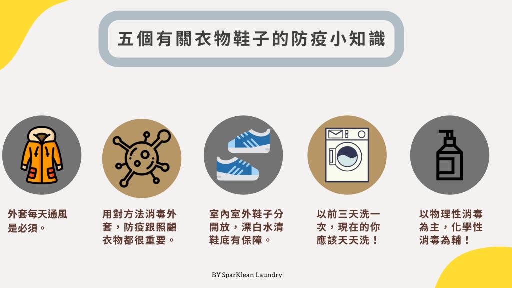 五個有關衣物鞋子的防疫小知識 圖